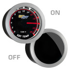 GlowShift Tinted 2400° Degree F EGT Gauge On/Off View