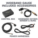 Included Accessories with Wideband Air/Fuel Ratio Gauge
