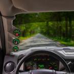 Gray Triple Pillar Gauge Pod for 2008-2010 Ford Super Duty Power Stroke Installed