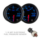 Black 7 Color Fuel Pressure Gauges with Electronic Pressure Sensor