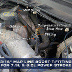 """3/16"""" MAP Line Boost T-Fitting Adapter Installed"""