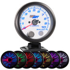 "White 7 Color 3 3/4"" Tachometer Gauge with Shift Light"