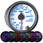 White 7 Color 200 PSI Air Pressure Gauge