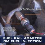 GM Fuel Rail Adapter -4 AN Thread Adapter Installed