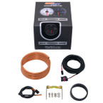 GlowShift Black 7 Color 60 PSI Exhaust Pressure Gauge Unboxed