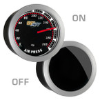 GlowShift Tinted 200 PSI Air Suspension Gauge On/Off View