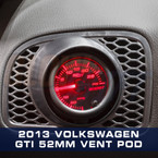 2010-2013 Volkswagen Golf MK6 Single Gauge Pod