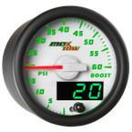 White & Green MaxTow 60 PSI Boost Gauge