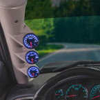 Elite 10 Color Series Triple Gauge Package for 2007-2013 GMC Sierra Duramax Installed