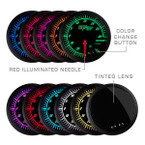 Included Colors with Elite 10 Color Gauge Series - Blue, Green, Red, Yellow, White, Light Blue, Purple, Pink, Orange, and Amber
