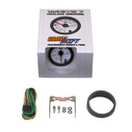GlowShift White 7 Color High Pressure Oil Pressure HPOP Gauge Unboxed