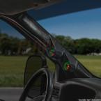 Black Full Size Dual Pillar Gauge Pod for 1999-2007 Ford Super Duty Power Stroke Installed