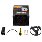 "GlowShift Black 7 Color 3 3/4"" In Dash Tachometer Gauge Unboxed"