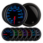 Tinted 7 Color 200 PSI Air Pressure Gauge