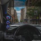 Black Triple Pillar Gauge Pod for 2012-2016 Ford Focus Installed