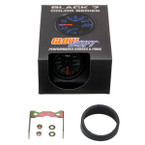 GlowShift Black 7 Color 200 PSI Air Suspension Gauge Unboxed