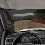 Black Triple Pillar Pod for 1999-2007 Ford Super Duty Power Stroke Installed