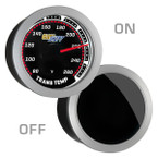 GlowShift Tinted Transmission Temperature Gauge On/Off View