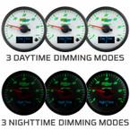 3 Daytime & 3 Nighttime Dimming Modes
