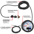Included Components with MaxTow 35 PSI Boost Gauge