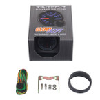 GlowShift Tinted 7 Color 30,000 PSI Fuel Rail Pressure Gauge Unboxed
