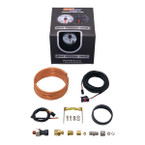 GlowShift White 7 Color 60 PSI Exhaust Drive Pressure Gauge Unboxed