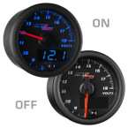 Black & Blue MaxTow Voltage Gauge On/Off View