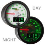 White & Green MaxTow Voltage Gauge Day/Night View
