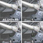 Installation with a Boost Hose is easy as 1-2-3