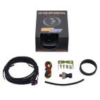 GlowShift 10 Color Digital 30 PSI Fuel Pressure Gauge Unboxed
