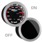 GlowShift Tinted Oil Temperature Gauge On/Off View