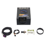GlowShift Black 7 Color 30 PSI Fuel Pressure Gauge Unboxed