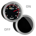 GlowShift Tinted 35 PSI Boost Gauge On/Off View
