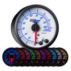 White Elite 10 Color 100 PSI Fuel Pressure Gauge