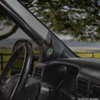 Black Ford Super Duty Single Pillar Pod Installed