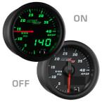 Black & Green MaxTow High Pressure Oil Pressure HPOP Gauge On/Off View