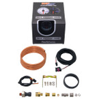GlowShift Tinted 7 Color 100 PSI Exhaust Drive Pressure Gauge Unboxed