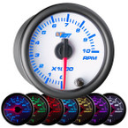 "White 7 Color 2"" Tachometer Gauge"