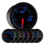 Black 7 Color Fuel Level Gauge