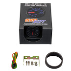 GlowShift Black 7 Color Fuel Level Gauge Unboxed