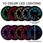 Features 10 Color LED Lighting