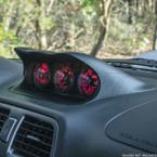 2002-2007 Subaru Impreza WRX Fiberglass Triple Dashboard Pod Installed