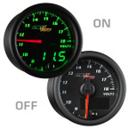 Black & Green MaxTow Voltage Gauge On/Off View