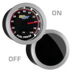 Tinted 100 PSI Fuel Pressure Gauge On/Off View