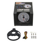 """GlowShift White 7 Color 3 3/4"""" In Dash Speedometer Gauge Unboxed"""
