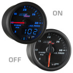 Black & Blue MaxTow 30,000 PSI Fuel Rail Pressure Gauge On/Off View