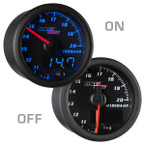 Black & Blue MaxTow Wideband Air/Fuel Ratio Gauge On/Off View