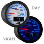 White & Blue MaxTow Air Pressure Gauge Day/Night View