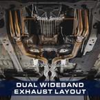 Dual Wideband Air/Fuel Ratio Oxygen Sensor Layout