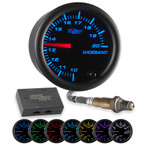 Black 7 Color Analog Wideband Air/Fuel Ratio Gauge